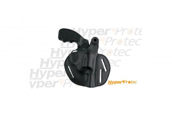 Revolver alarme 9mm chromé Compétitive crosse noire