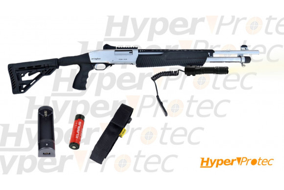 Mini pistolet alarme 9 mm - Oryx 914 Titane à blanc