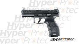 Revolver alarme chromé mat Lawgun 4.5 pouces crosse noire