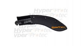Couteau Alpino gris et noir avec coffret cadeau