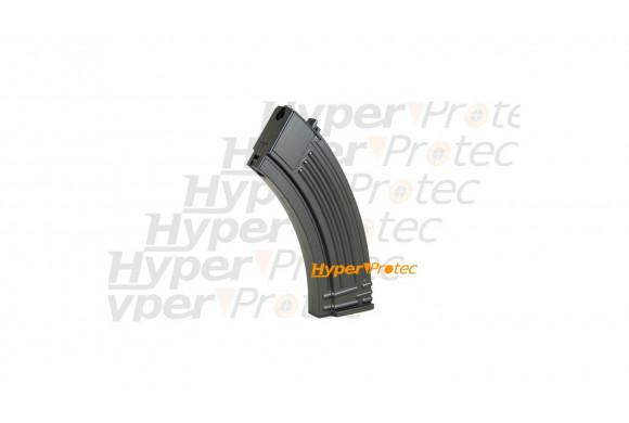 Mallette Luxe cuir noir contour brun pour arme de poing - 38 cm