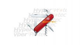 Couteau en métal et noir Herbertz lame lisse 239812