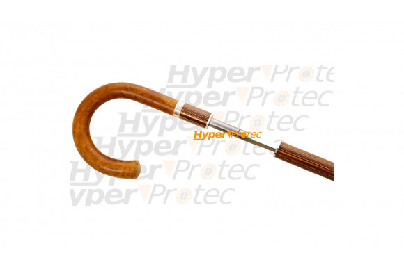 Canne épée parapluie manche courbe bois - 93 cm