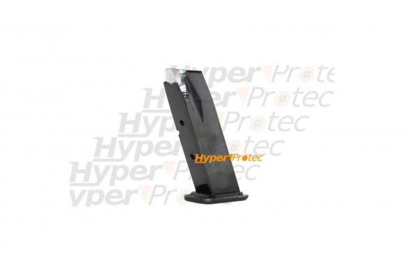 Matraque noire 53 cm avec lampe torche Perfecta 1500