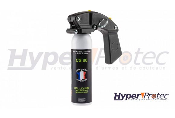 Grand aérosol lacrymogène anti-agression au gel liquide