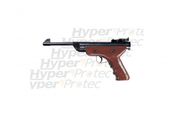 Pistol Wood - Pistolet à plomb compression manuelle