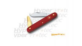 Couteau d'horticulteur greffoir Victorinox rouge ecoline avec spatule cuivrée