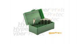 Boite de rangement pour 50 cartouches calibre .357 magnum ou .38 et special