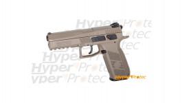 Pistolet à plombs et billes acier CZ P-09 Full FDE calibre 4.5mm