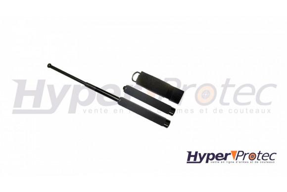 Matraque télescopique noire poignée mousse - 53.3cm