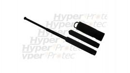 Matraque télescopique noire poignée mousse - 63.5cm