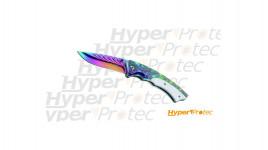 Couteau de poche arc en ciel flamenco - 12cm