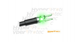 Encoches lumineuses pour arbalète facile à utiliser Clean-shot Vert