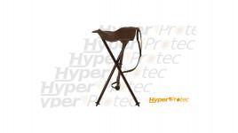 Chaise pliante de chasse Cuir marron en métal hauteur 54cm