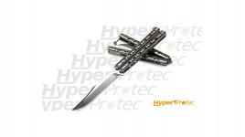 Couteau Papillon US Benchmade Balisong haut de gamme BN63 à lame bowie