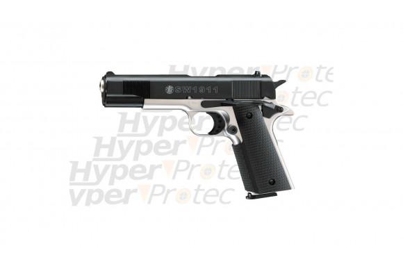 Smith & Wesson 1911 - pistolet alarme nickel