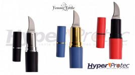 Rouge à lèvre de défense avec lame cachée couleur aux choix
