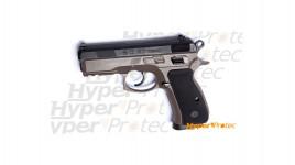 Réplique airsoft pistolet CZ 75D compact dual-tone FDE
