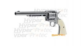 Revolver à billes d'acier Colt SAA nickelé canon long - calibre 4.5mm bbs