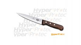 Couteau de cuisinier Victorinox Saigner grande lame 16cm manche en bois de palissandre