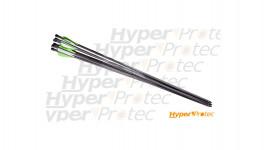 6 flèches carbone pour carabine PCP Crosman Airbow