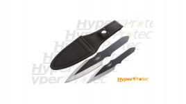 Set de 2 couteaux de lancer UZI Protection un grand et un petit