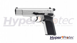 Pistolet à cartouches à blanc Browning GPDA nickel mat - calibre 9mm P.A.K