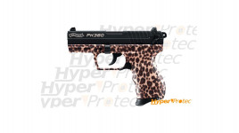 Pistolet à blanc Walther PK380 edition cheetah Walther felin calibre 9mm P.A