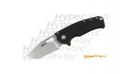 Couteau CRKT Batum double face lame acier 8Cr13MoV épaisse et manche G10