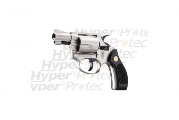 Chiefs Special nickel crosse noire - revolver Smith&Wesson 9mm