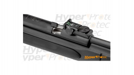Matraque télescopique noire poignée caoutchouc - 41cm