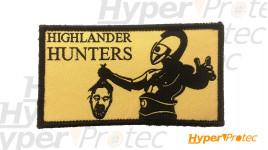 Ecusson réctangulaire Highlander hunters