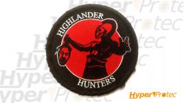 Ecusson rond Highlander hunters