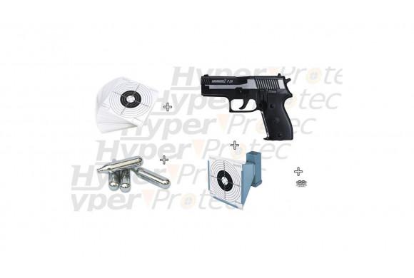 Pack été pistolet à plombs Hammerli P26 + accessoires