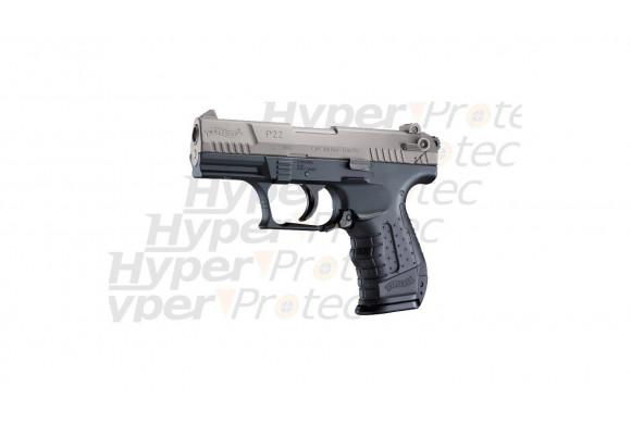 CP88 Competition nickel crosse bois - Pistolet à plomb 6 pouces