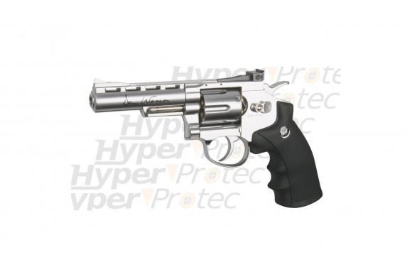 Revolver Dan Wesson chromé 4 pouces - airsoft CO2