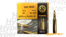 Cartouche 243 win training sellier & bellot