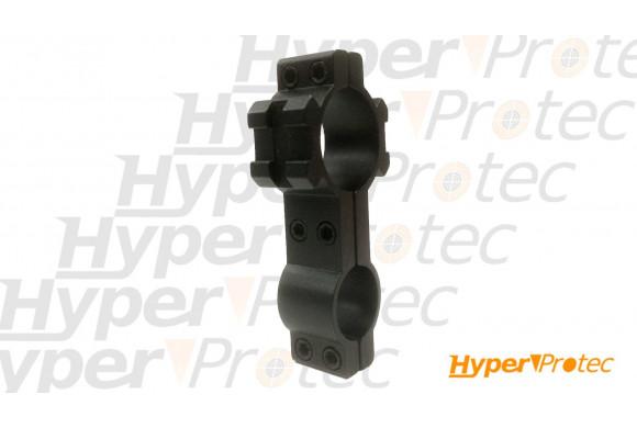 Collier de montage pour optique avec deux rails RIS diamètre 25 et 18 mm
