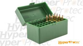 Boîte de rangement 50 cartouches de calibre 243 win et 308 wi