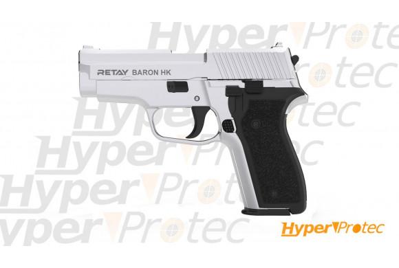Pistolet d'alarme 9mm Retay Baron nickel