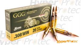 20 munitions GGG .308 175gr