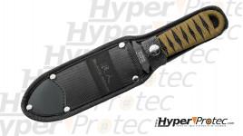 Couteau papillon noir acier gris - 13cm