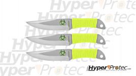 Ensemble de trois couteau de lancer Z-hunter avec cible de 20 cm