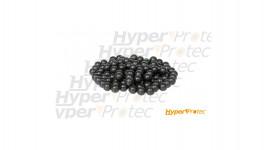 100 Balles caoutchouc durci avec métal T4E Cal.50 RubberSteel noir