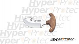 Couteau Skinner pour la chasse Cudeman avec manche en olivier
