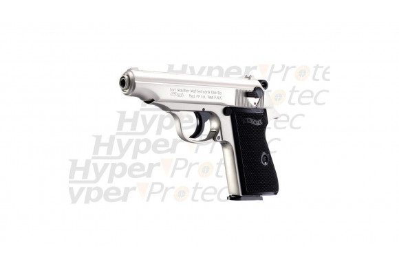 Walther PPK - pistolet alarme nickel en 9 mm