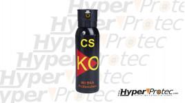 Aérosol de défense KO au gaz CS de 100 ml