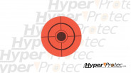 25 autocollants cibles oranges en diamètre 8 cm pour tir aux plombs