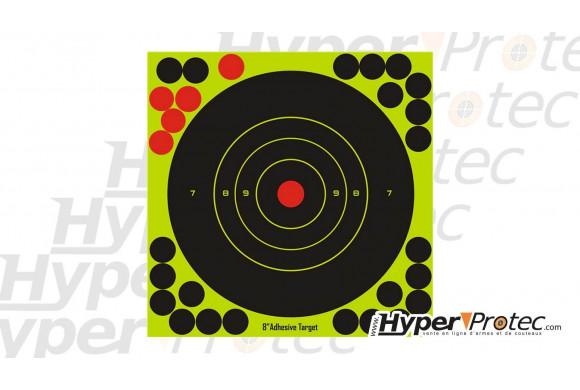 Cibles réactives 17 cm autocollantes avec pastilles en diamètre 17.5 cm pour tir au plomb