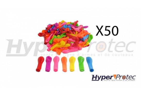 Sachets de 50 ballons gonflables pour tir au plomb